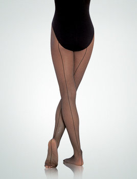 Body Wrappers Seamed  Fishnet Tights  A62