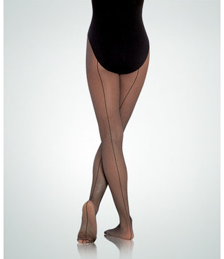 Body Wrappers Seamed Fishnet Tights C62