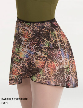Body Wrappers BODY WRAPPERS PRINTED WRAP SKIRT 980