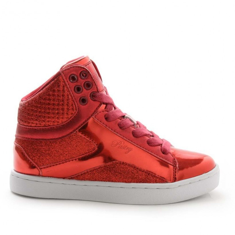 Pastry Shoes Red Pop Tart Glitter Hip Hop Sneaker