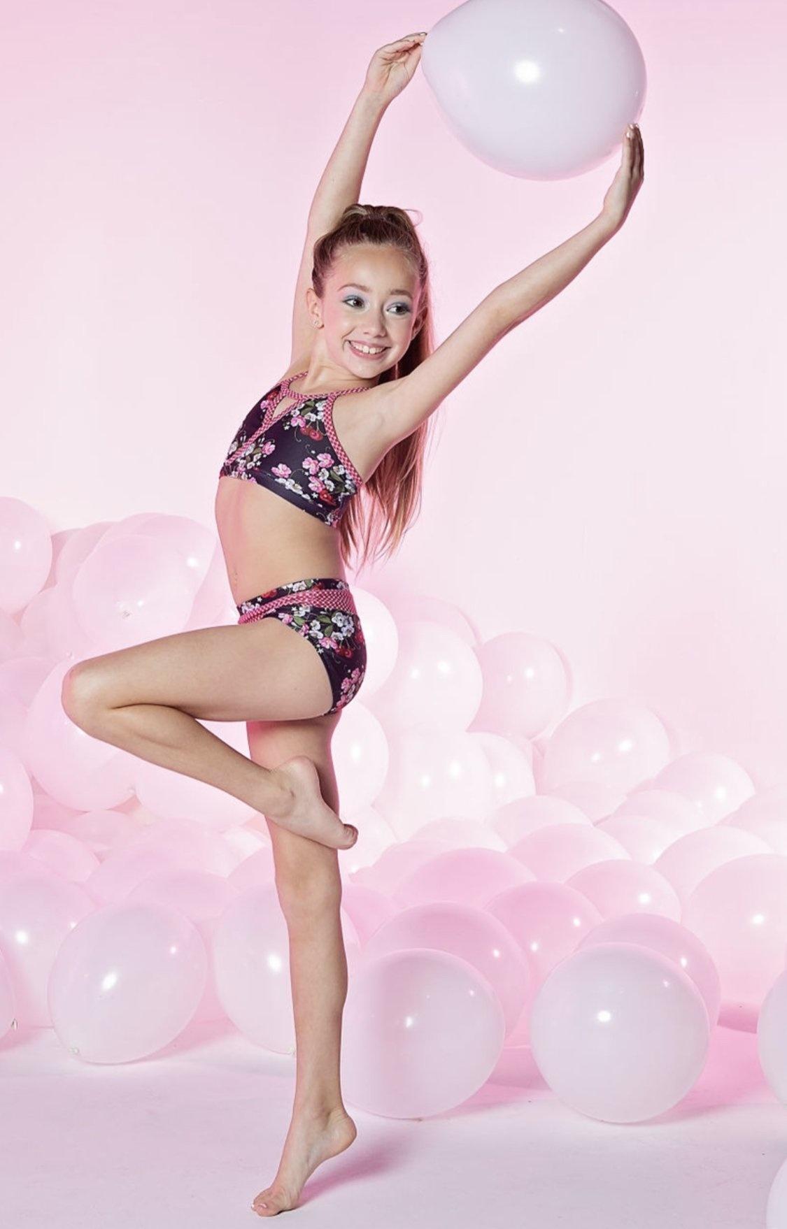 Oh La La Dancewear Oh La La Isabella Cherry Bomb Top OLL116T