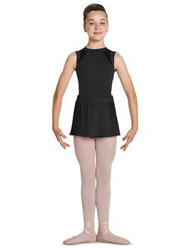 Mirella Mirella Velvet Waist Mock Wrap Skirt MS135C