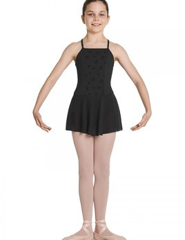 Bloch Bloch Floral Paneled Open Back Skirted Leotard CL5767