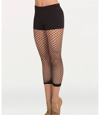 Body Wrappers Body Wrappers Black Crop Fishnets A63