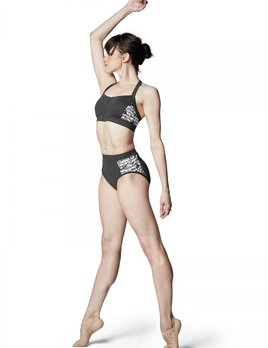 Bloch Bloch Lilly Stripe Mesh High Waisted Brief FR5053