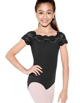 So Danca SL17 So Danca Black Lace Cap Sleeve