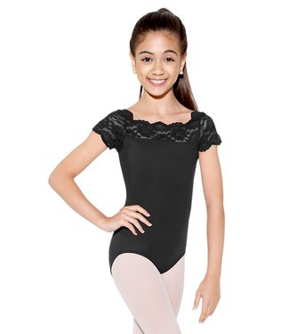 So Danca SL17 So Danca Black Lace Cap Sleeve