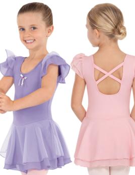 EUROTARD Eurotard Cotton Ruffle Sleeve Dress 0206