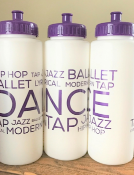 CJ Merchantile g322 White/Purple Dance Bottle 32oz