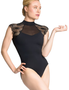 So Danca So Danca Mock Neck Lace Sleeve Leotard PL-2039