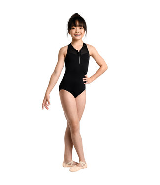 Danshuz Danznmotion Zip Front Racer Back Leotard 2740