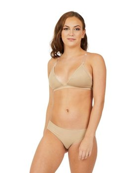 Capezio Capezio Deep Neck Clear Back Bra 3777