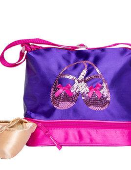 Horizon Dance Horizon Dance Satin & Sequins Gear Tote Purple 3412
