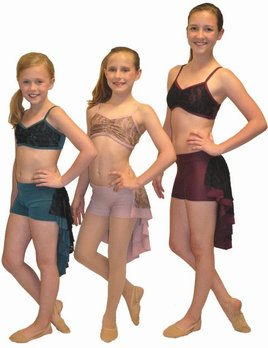 BP Designs Lace Overlay Two Piece Dance Costume