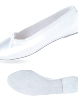 Danshuz White Satin Ballet Shoe
