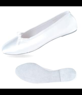 Danshuz White Satin Ballet Shoe