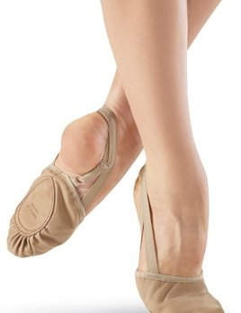 Body Wrappers Leather Pleated Half Sole Slipper 621C