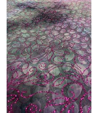 Tye Dye Glitter Lace Purple/ Blue