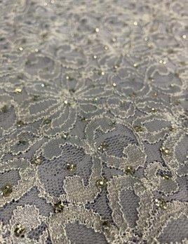 Nipkow & Kobelt Lavender Lace with Silver Glitter Dots