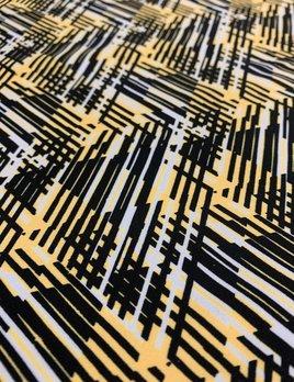 Rex Fabrics Hyperactive Yellow/Black Print
