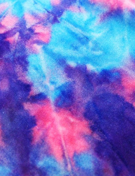 Rex Fabrics Tie Dye Velvet Cotton Candy