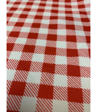 Gingham Check Red/White