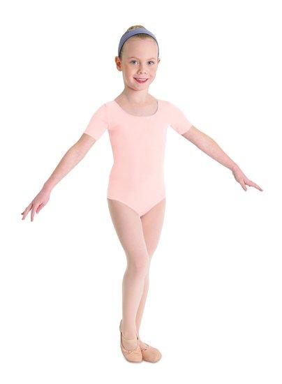 f39a711c5a89 Bloch Short Sleeve Leotard CL5402 - Black and Pink Dance Supplies