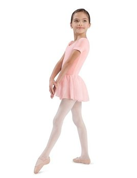 Bloch BLOCH GIRLS SHORT SLEEVE SKIRTED LEOTARD CL5342