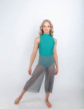 BP Designs BP Designs Mesh Wide Leg Capri 31603