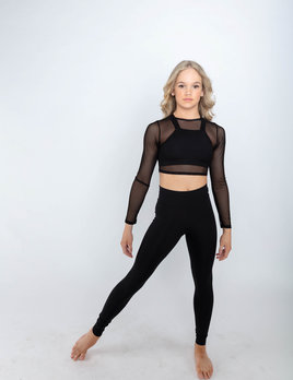 BP Designs BP Designs Mesh Long Sleeve Pull On Crop 84337