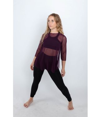 BP Designs BP Designs Mesh 3/4 Sleeve Overlay Top 34105