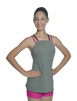 BP Designs BP Designs Eclon Gray Double Cross Long Top Adult 74319
