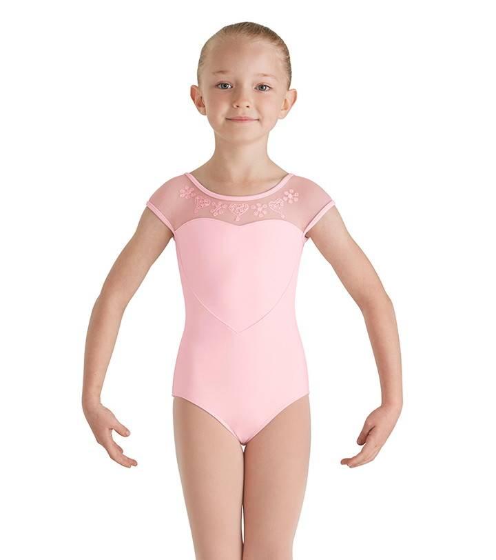 c726501181f Bloch Child Mesh Yoke Leotard CL7910 - Black and Pink Dance Supplies ...