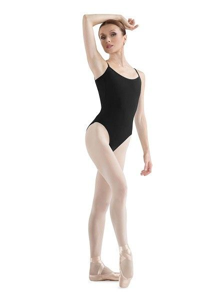 d62b4d13ae10 Bloch Camisole Leotard L5407 - Black and Pink Dance Supplies