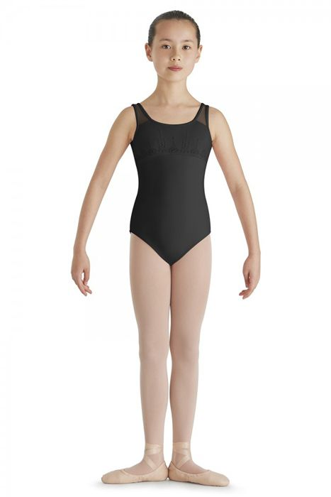 31b1a96d694e BLOCH MESH BUST TANK LEOTARD CL7935 - Black and Pink Dance Supplies, Tulsa
