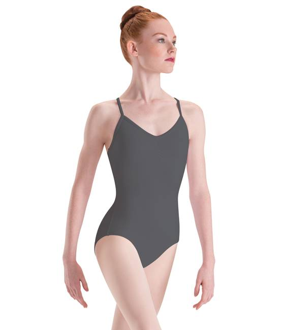 44c55a5c2 Camisole Dance Leotard by Motionwear Style 2639 - Black and Pink ...