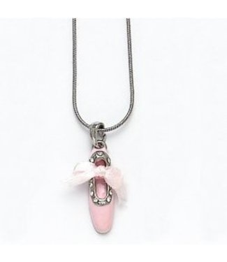 Dasha Designs Dasha Enamel Ribbon Shoe Necklace 2789