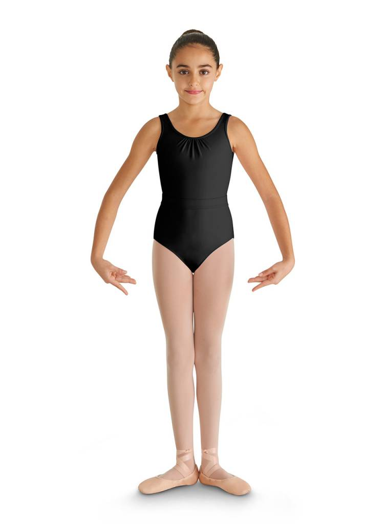a00895f18928 Bloch Belted Bow Tank Leotard CL8675 - Black and Pink Dance Supplies, Tulsa