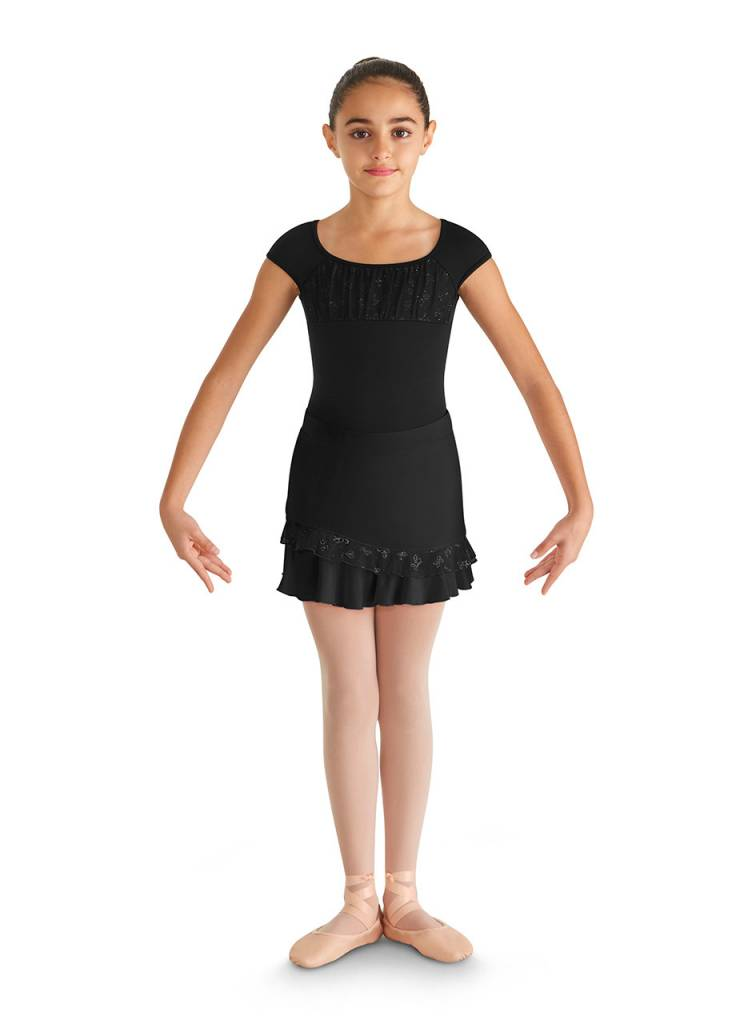 Bloch Ruffle Hem Skirt Cr3941 Black And Pink Dance Supplies Tulsa