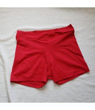 BP Designs BP Designs V Waist Short Red Slkn 87506