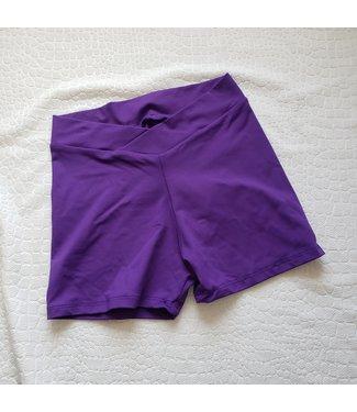 BP Designs BP Designs V Waist Short Purple Slkn 87506