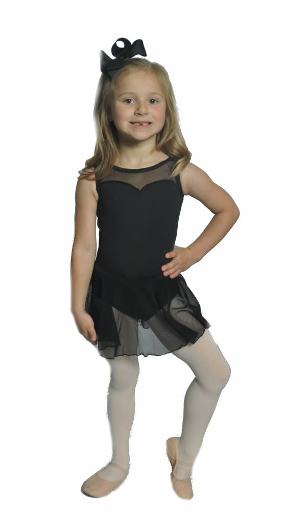 259798004 BP Designs Sweetheart Skirted Leotard 39108 - Black and Pink Dance ...
