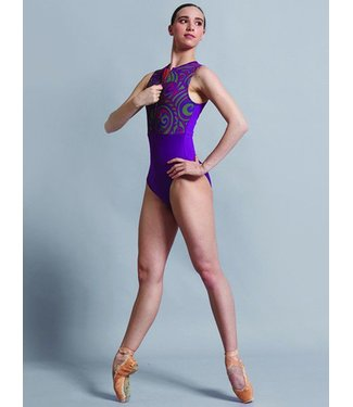 Ballet Rosa Ballet Rosa Dali Swirl Top Zip Front Tank Leo