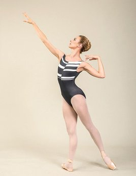 Ballet Rosa Ballet Rosa Tara Stripe Boatneck Tank Leotard