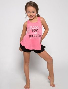 Sugar and Bruno Sugar and Bruno Glitter Bows Itty Bitty Tank D8078