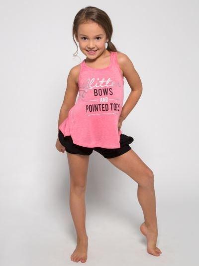 eb993b993cc9 Sugar and Bruno Glitter Bows Itty Bitty Tank D8078 - Black and Pink Dance  Supplies, Tulsa