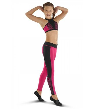 Leos Dancewear LEOS LASER CUT PANEL FULL LEGGINGS LC185P