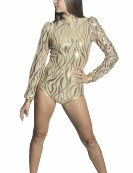 BP Designs Puff Sleeve Sequin Leo 93301