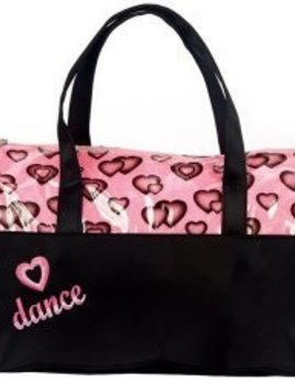 Dasha Designs Dasha Designs Glittery Hearts Dance Duffel 4941