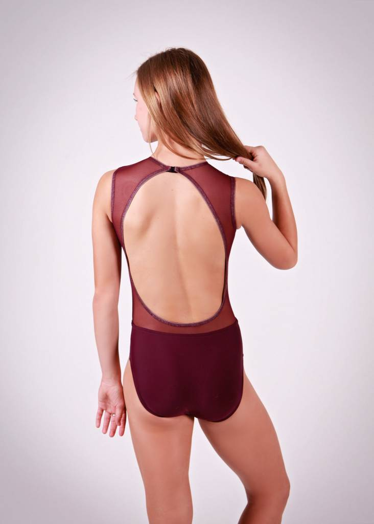 BP Designs BP Designs Mesh Center Open Back Leotard Adult 73312